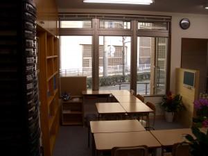 自習監督席と授業席